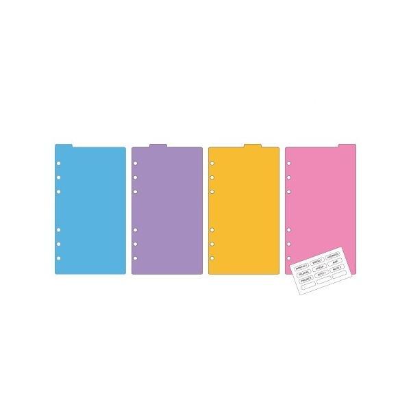 Davinci リフィル紙ポケットサイズ カラーインデックス(4区分) DPR4288
