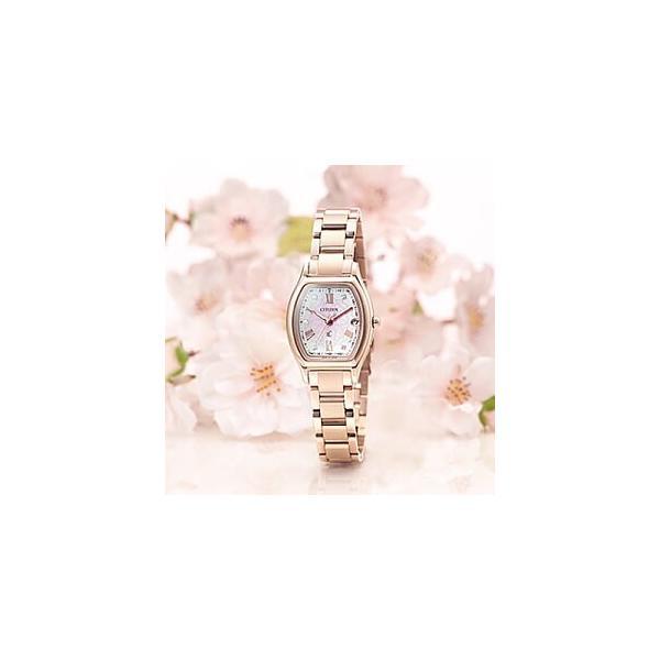 シチズン クロスシー 「八重桜」限定モデル ソーラー電波ウォッチ レディース 腕時計  1,500本 ES9354-51W 限定BOX付
