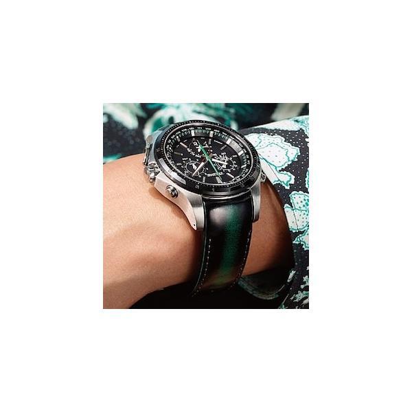 EPSON エプソン TRUME トゥルーム  TR-MB5005 (ステンレス・アドバンレザー ブルー) ソーラー 腕時計(メンズ)  GPS衛星電波時計