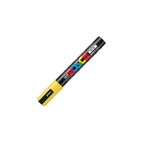 (業務用20セット)三菱鉛筆 ポスカ/POP用マーカー 〔中字/黄〕 水性インク PC-5M.2