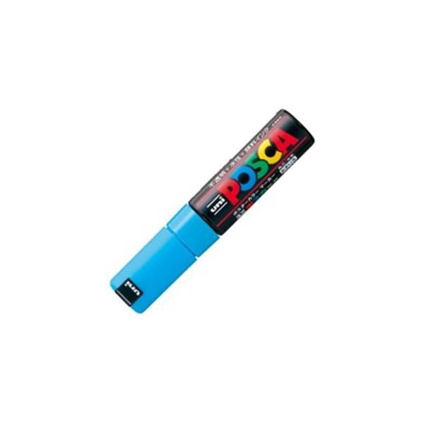 (業務用20セット)三菱鉛筆 ポスカ/POP用マーカー 〔太字/水色〕 水性インク PC-8K.8