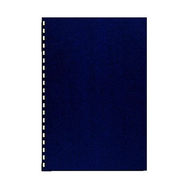 (まとめ) カール事務器 コームリング製本カバー ハード ブルー TC-51B 1パック(5枚) 〔×10セット〕