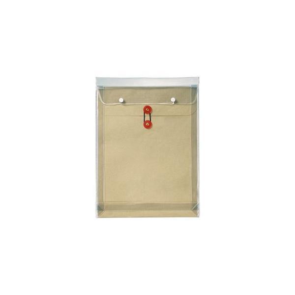 (まとめ) ピース マチヒモ付ビニール保存袋 レザック 角0 184g/m2 茶 919 1枚 〔×10セット〕