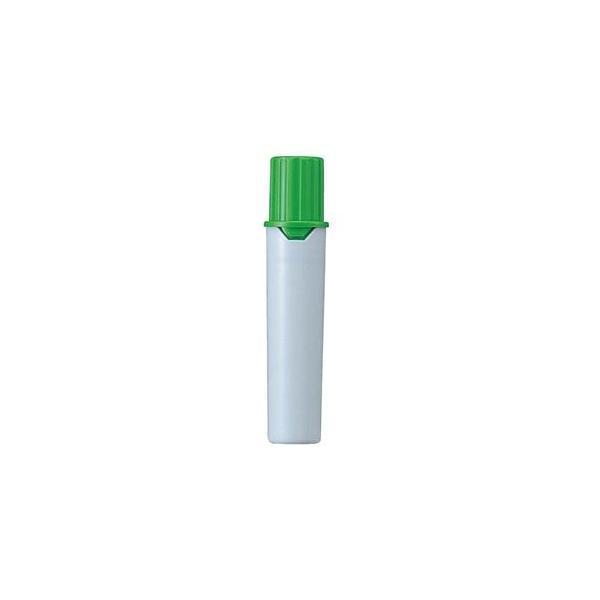 (まとめ) 三菱鉛筆 水性マーカー プロッキー詰替えタイプ用インクカートリッジ 太字角芯+細字丸芯 黄緑 PMR70.5 1本 〔×80セット〕