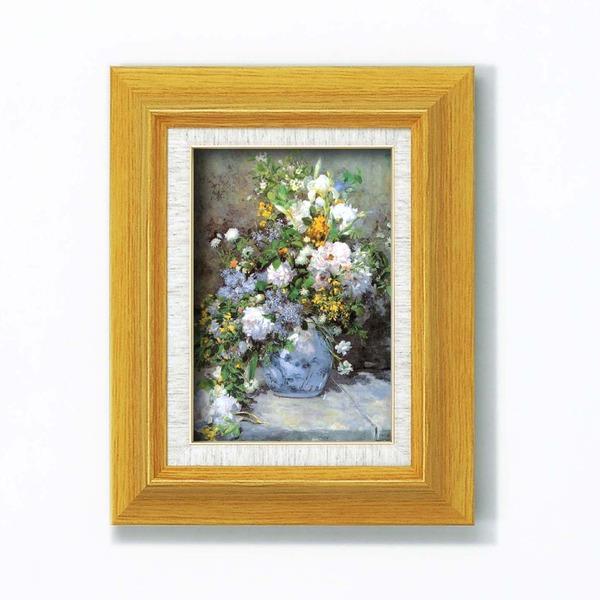 名画額縁/フレームセット 〔サム〕 ルノワール 「花瓶の花」 273mm×343mm×48mm 壁掛けひも付き