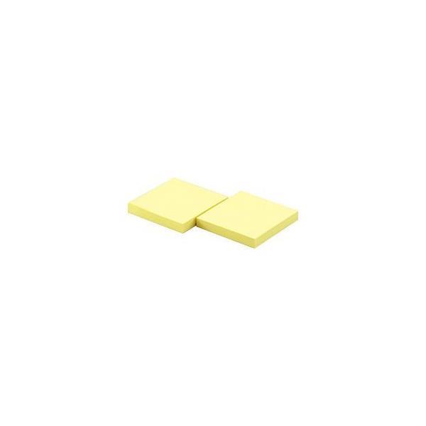 (まとめ) ポスト・イット(R) 再生紙 詰替用ポップアップノート イエロー(7.5×7.5.cm) 1箱(10冊) 〔×2セット〕