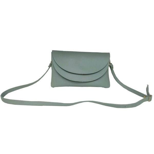 柔らか素材 整理しやすい2段式ショルダーバッグ/ミント