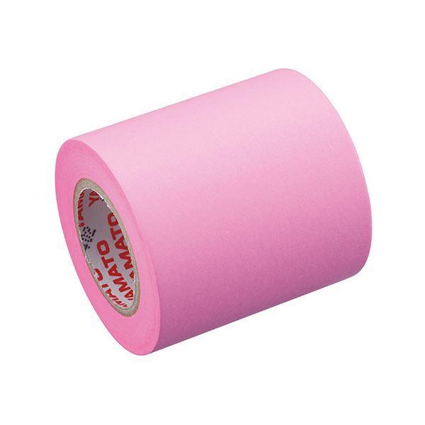 (まとめ) ヤマト メモック ロールテープ 蛍光紙詰替用 50mm幅 ローズ RK-50H-RO 1巻 〔×30セット〕