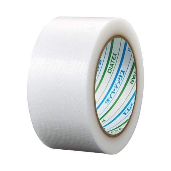 (まとめ) ダイヤテックス パイオラン養生テープ 50mm*25m 半透明〔×10セット〕