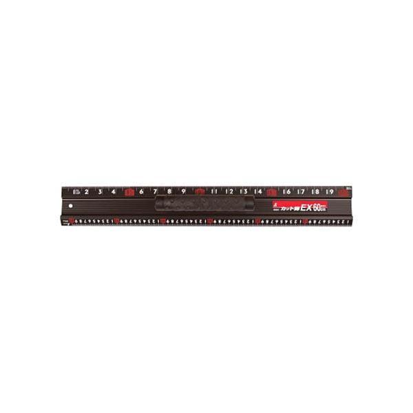 (まとめ)シンワ測定 カット師EX 取っ手付600mm 625×88×68mm 65031 1本〔×3セット〕