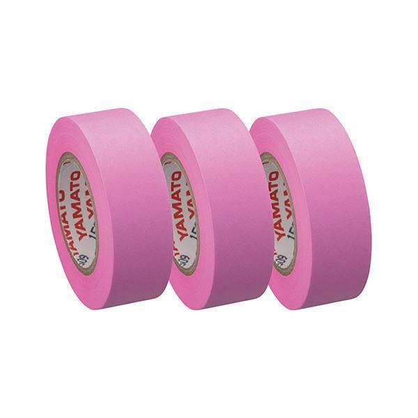(まとめ) ヤマト メモック ロールテープつめかえ用 15mm幅 ローズ RK-15H-RO 1パック(3巻) 〔×50セット〕