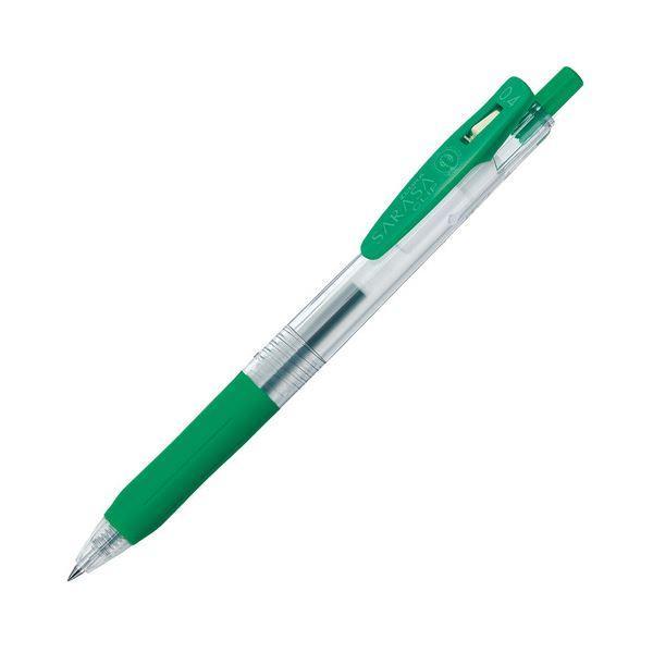 (まとめ) ゼブラ ゲルインクボールペン サラサクリップ 0.4mm 緑 JJS15-G 1本 〔×100セット〕