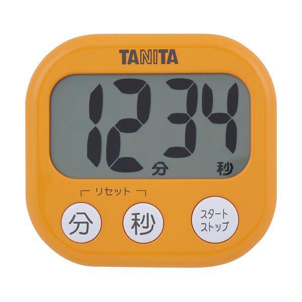 (まとめ)タニタ でか見えタイマーアプリコットオレンジ TD-384OR 1個〔×10セット〕