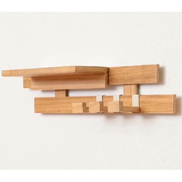 壁に付けられるすのこ 壁面収納 パッケージセット1 アレンジ〔ナチュラル〕完成品〔代引不可〕