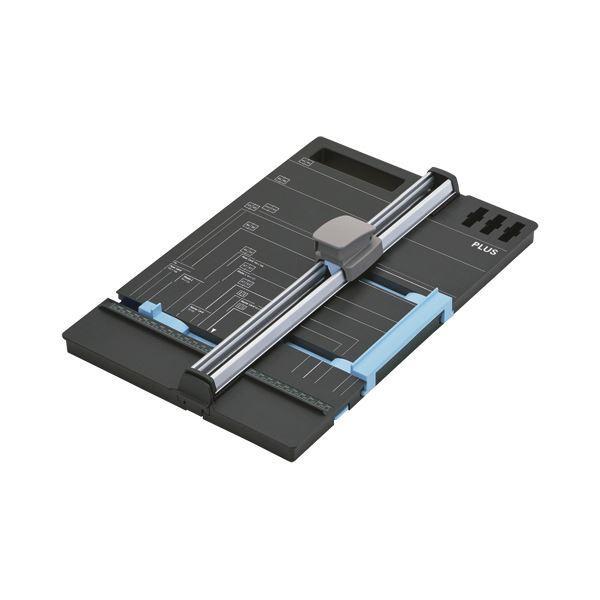 (まとめ)プラス スライドカッター ハンブンコ 297mm(A4長辺) PK-813 1台 〔×3セット〕