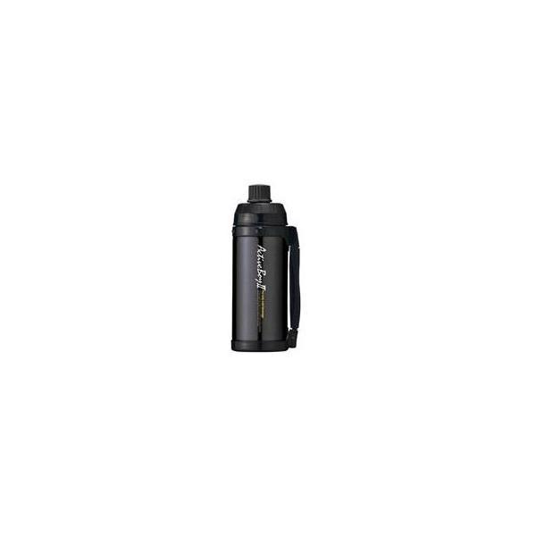 〔20個セット〕 魔法瓶構造 スポーツボトル/水筒 〔保冷専用 ブラック〕 1L 直飲みタイプ ハンドル付き 『アクティブボーイ2』