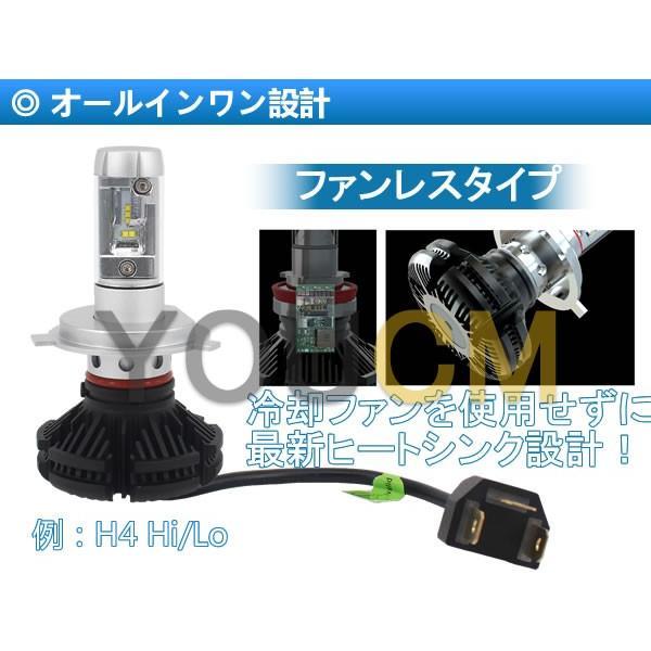[車検対応]ZESチップ LEDヘッドライト H4 Hi/Lo オールインワン一体型 6000LmX2 細い発光 角度調整機能 DC 12v/24v [YOUCM][2年保証] youcm 04
