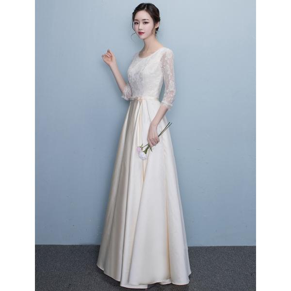 パーティードレス ロングドレス 披露宴 パーティドレス 大きいサイズ 二次会ドレス 結婚式 ドレス ワンピース Aライン お呼ばれドレス 20代 30代 40代|youdear|05