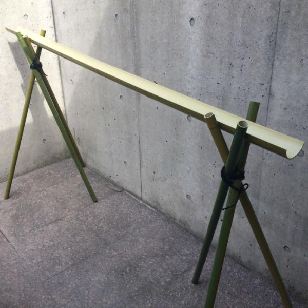 流しそうめん 人工竹 4m型への長型用追加セット小 (下流部=2m分)|yougan