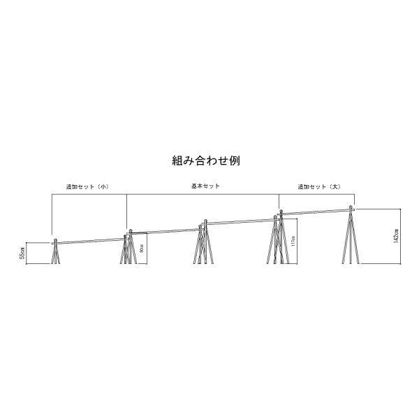 流しそうめん 人工竹 4m型への長型用追加セット小 (下流部=2m分)|yougan|04