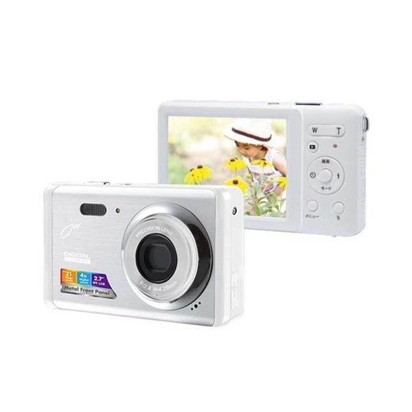 ジョワイユ デジタルカメラ シルバーホワイト JOY500FESWH