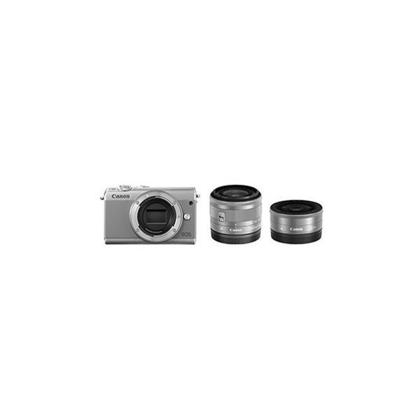 CANON デジタル一眼カメラ EOS M100 ダブルレンズキット [グレー]