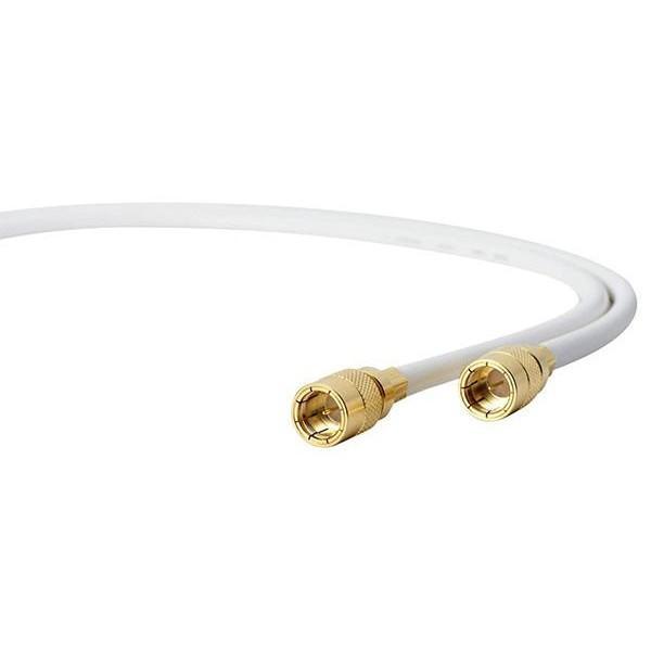 サン電子 4K・8K衛星放送対応 TV接続ケーブル(4C) 両端らくらくコネクタ 白 1.5m 4WR-K15WP