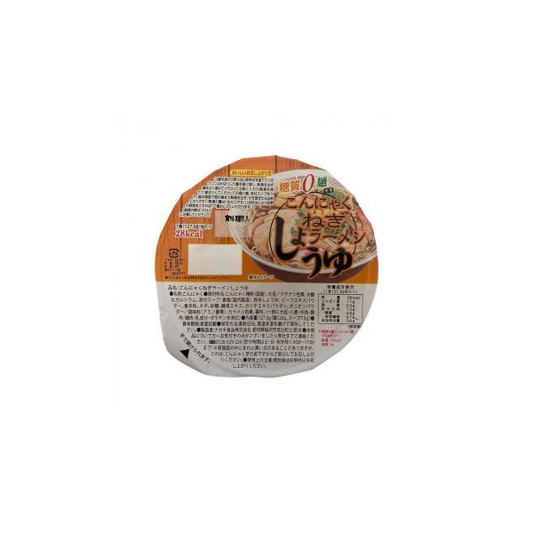 ナカキ食品 カップこんにゃくラーメンシリーズ 蒟蒻ねぎラーメンしょうゆ 12個セット×2ケース(代引き不可)(同梱不可)
