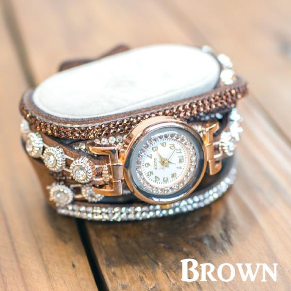 ブレスレット 時計 レディース 腕時計 巻ブレス おしゃれ ブレスレットウォッチ ラインストーン  (メール便送料無料) ycp