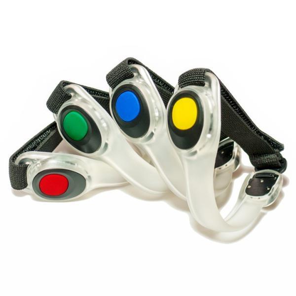 LED アームバンド 4色(赤/青/緑/黄)セーフティベルト (メール便送料無料)   ycm|youplus-corp|02