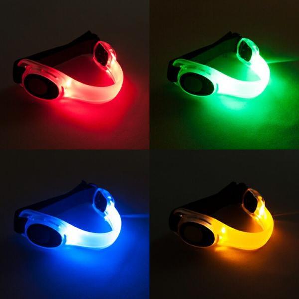 LED アームバンド 4色(赤/青/緑/黄)セーフティベルト (メール便送料無料)   ycm|youplus-corp|04