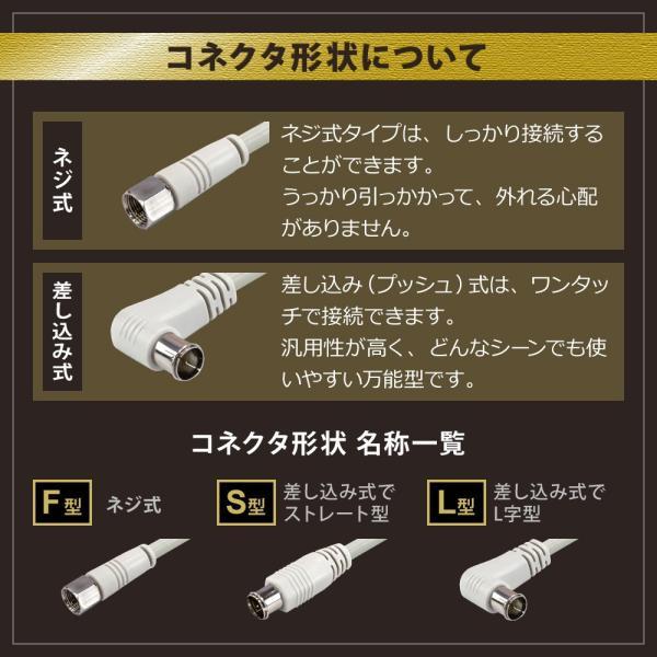 アンテナケーブル 同軸ケーブル 5m(fl , sl) 4K8K対応 S-4C-FB 地デジ 地上デジタル BS CS TV テレビ (メール便送料無料) ycm3|youplus-corp|05