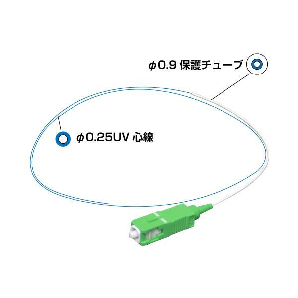SM ピッグテール SCコネクタ (APC研磨)  1m φ0.25 UV心線 (10本入)(e0285) yct/c3