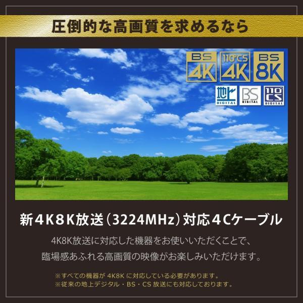 アンテナケーブル 同軸ケーブル 5m 4K8K対応 S-4C-FB 地デジ 地上デジタル BS CS TV テレビ F+F型 (メール便送料無料) ycm3
