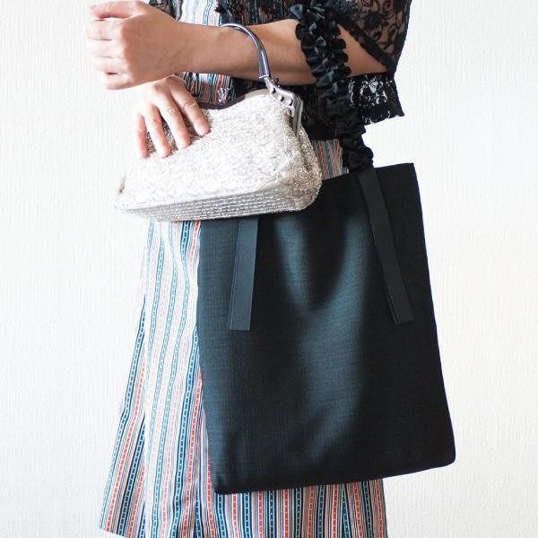サブバッグ  縦型 A4 結婚式 入学式 フォーマル 大きめ パーティーバッグ グログラン (メール便送料無料) ycm|youplus-corp|07