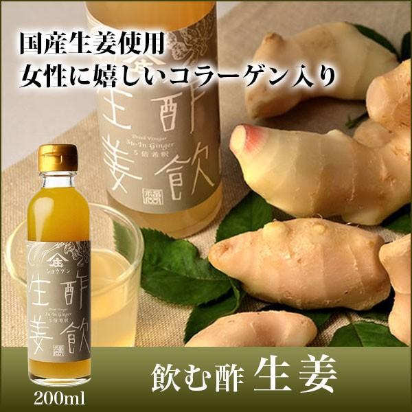 飲む酢 ギフト 酢飲 生姜 200ml×1本 果実酢 庄分酢