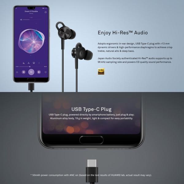HUAWEI Active Noise Canceling Earphones 3  13 mm ハイレゾ ( 96kHz / 24bit )対応|yourmiraimall|05