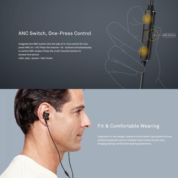 HUAWEI Active Noise Canceling Earphones 3  13 mm ハイレゾ ( 96kHz / 24bit )対応|yourmiraimall|06