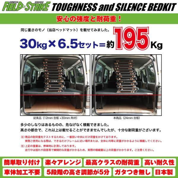 オートスライド有車用【硬質マットタイプ/重歩行用ストーングレー】Field Strike ベッドキット NV350 キャラバン プレミアムGX (H24/6-)|yourparts|09