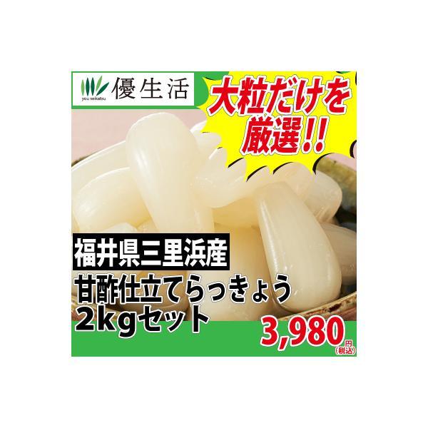 福井県 三里浜産 甘酢仕立て らっきょう 2kg セット