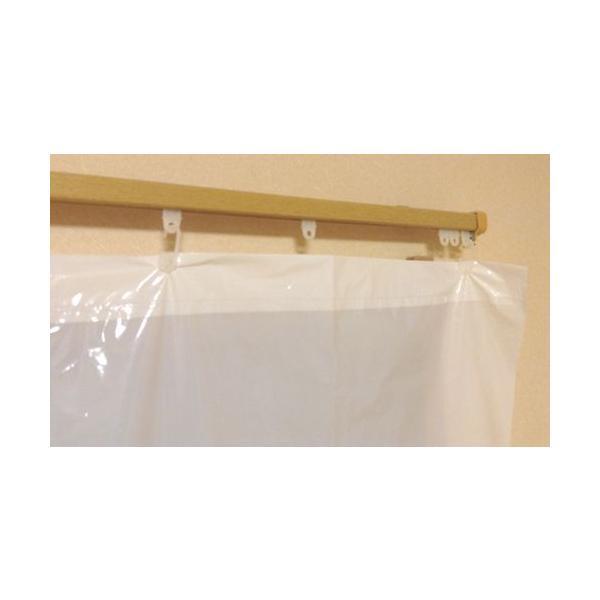 【お買い得品!】日除けカーテン ポリエチ製 乳白  巾2mx長さ1.95m 100枚入《送料無料》|youzyou|03