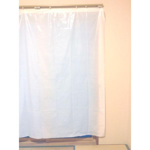 【お買い得品!】日除けカーテン ポリエチ製 乳白  巾2mx長さ1.95m 100枚入《送料無料》|youzyou|05
