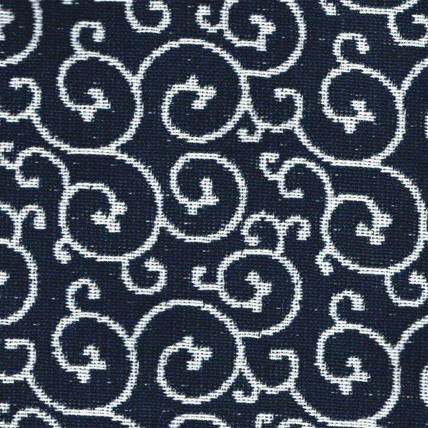 がま口ポシェット(唐草柄)日本製 綿100% ジャカード織 伝統 米沢織 米織 小紋柄 和柄 和装 お着物 旅行 斜め掛け|yozando-y|02