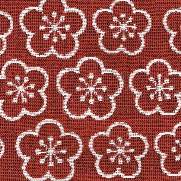 がま口ポシェット(梅柄)日本製 綿100% ジャカード織 伝統 米沢織 米織 小紋柄 和柄 和装 お着物 旅行 斜め掛け 松竹梅 紅白|yozando-y|02