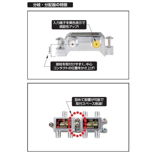 日本アンテナ 4K8K対応屋内用2分岐器 B102E 2181608