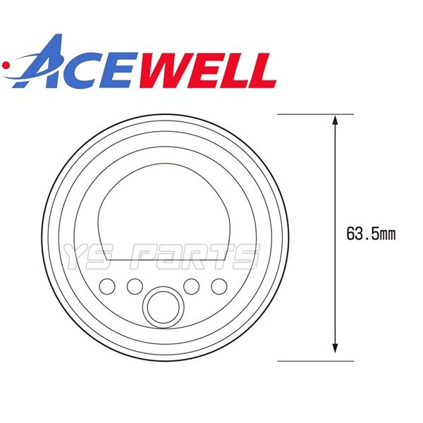 【正規品】ACEWELL完全防水マルチメーター52mm径[デジタルタコメーター]WR250R/WR250F/セロー225/セロー250/XJR400/XJR1200/XJR1300等|ys-parts-jp|13