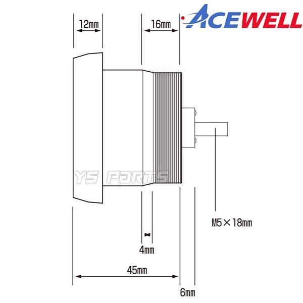 【正規品】ACEWELL完全防水マルチメーター52mm径[デジタルタコメーター]WR250R/WR250F/セロー225/セロー250/XJR400/XJR1200/XJR1300等|ys-parts-jp|15