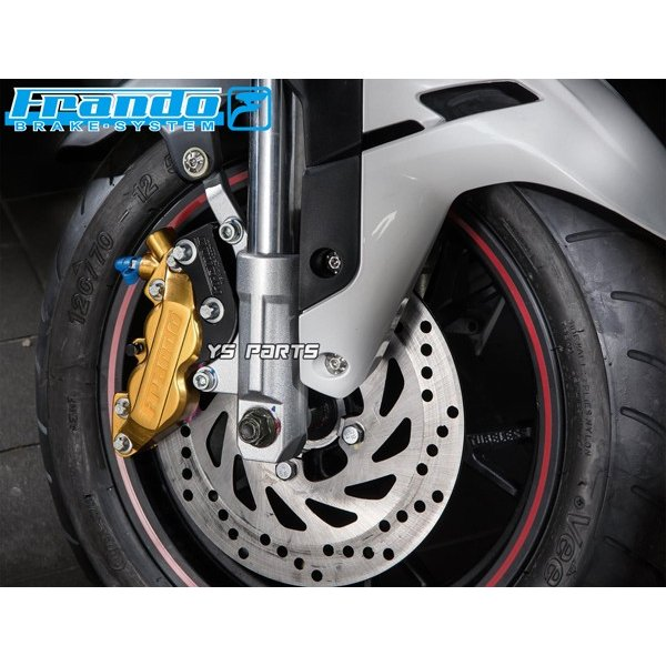 [正規品/超高品質]FRANDO 4POD鍛造ブレーキキャリパー赤 右側[ブレンボ40mmピッチ形状]専用ブレーキパッド付シグナスX/NMAX125/NMAX155/YZF-R25/SRX400/SRX600等|ys-parts-jp|11
