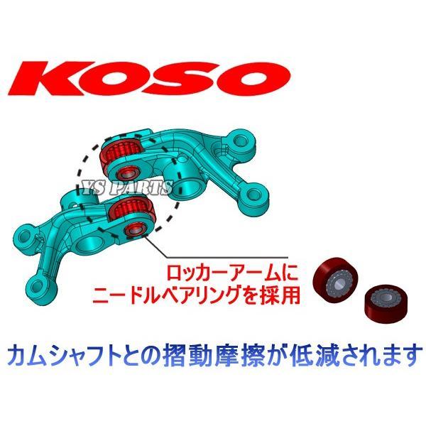 【高品質】KOSO シグナスX/BW'S125X/BWS125X ハイカム+ローラーロッカーアームKIT|ys-parts-jp|07
