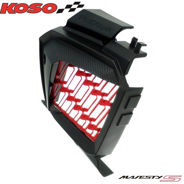 【正規品】KOSOカーボン調ラジエターカバー/ラジエーターカバー マジェスティS[2LD/SG28J/SG52J]SMAX[1DK]FORCE155[BH9]フォース155|ys-parts-jp|02